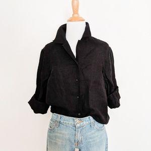 Ralph Lauren Black Linen Button Down